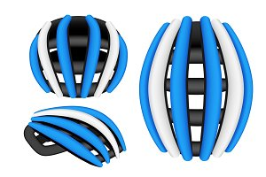 Mountain Bicycle Helmet Set