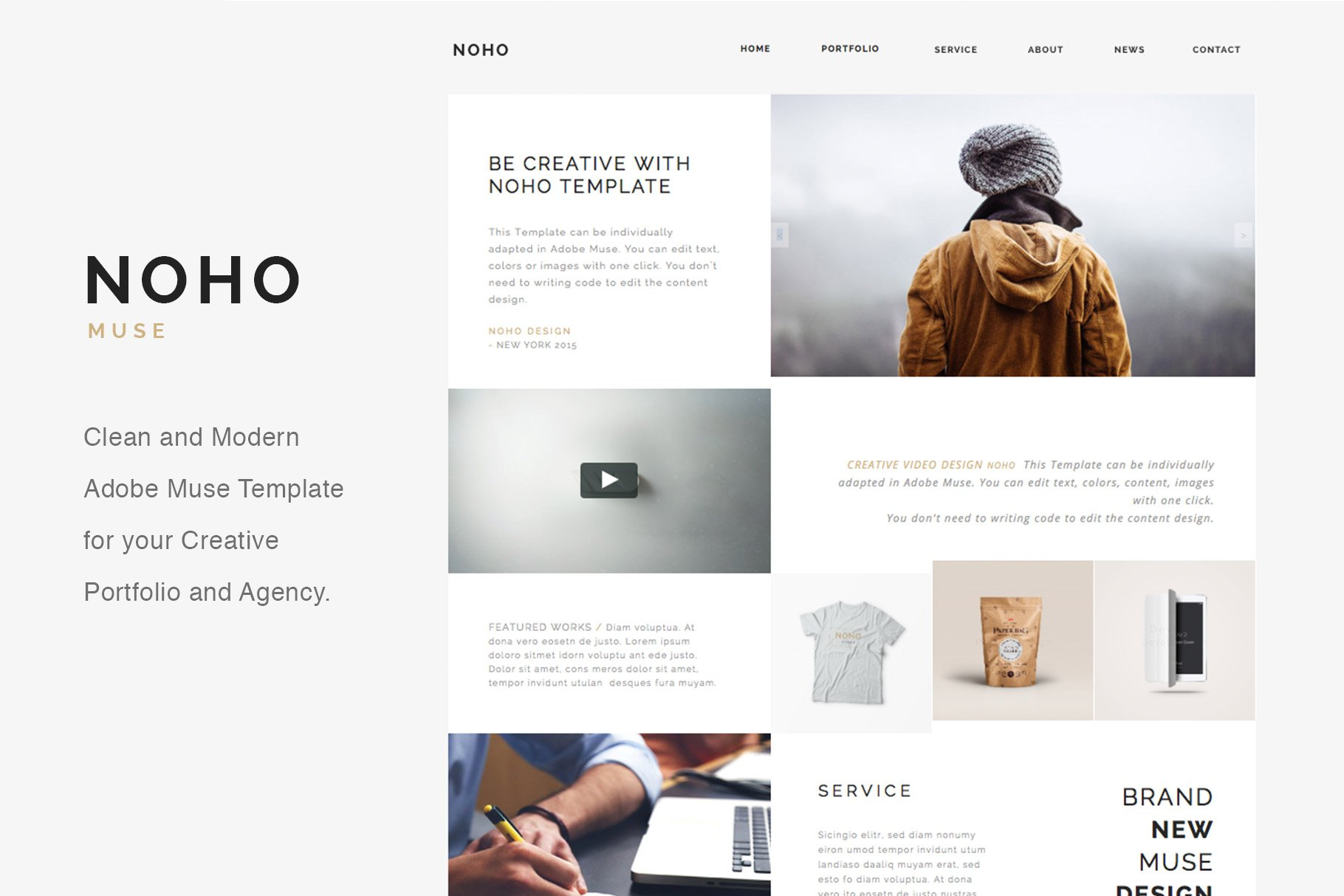 Noho creative muse template website templates creative market accmission Gallery