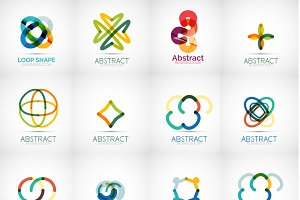 Abstract colorful logo designs