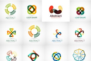 Colorful company logos set