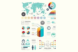 Modern Design Elements Infographic