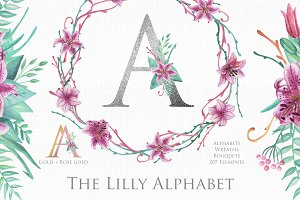 Lilly Alphabet Graphic Set