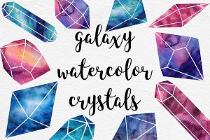 Watercolor Crystals Collection