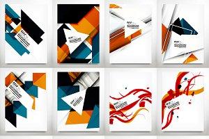 Abstract geometrical flyers set