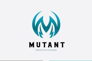Mutant logo M letter logo