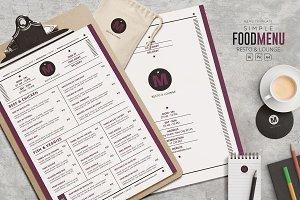 Simple Food Menu - Resto & Lounge