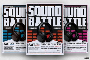 DJ Battle Flyer Template V3