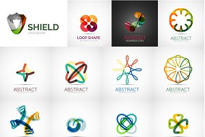 Abstract business logo set