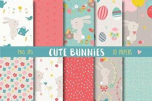 Cute bunnies paper