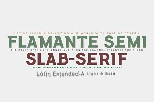 Flamante SemiSlab Light & Bold