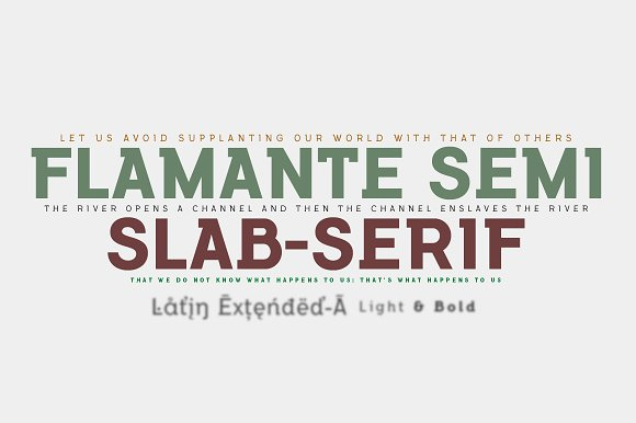 Flamante SemiSlab Light Bold