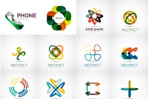 Overlapping abstract logos