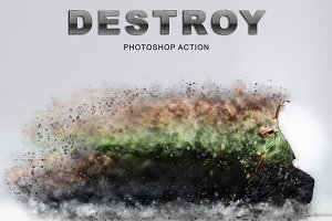 Destroy Photoshop Action