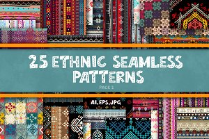 Ethnic seamless patterns-2