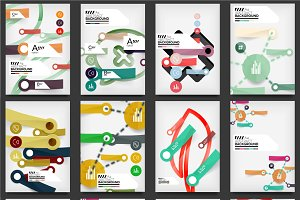 Abstract infographic flyer designs