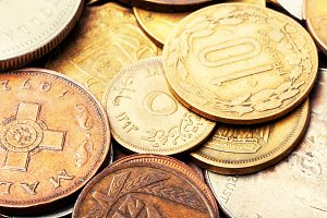 Old coins, numismatics