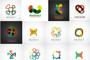 Abstract line logos
