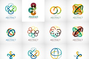 Abstract line logotypes