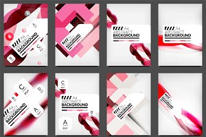 Pink abstract flyers designs