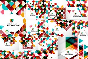 Circles and triangles backgrounds