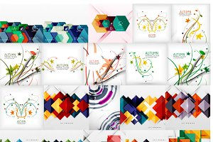 Big abstract backgrounds set