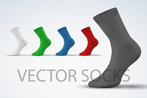 Set of Realistic Layout sport Socks