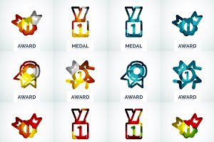 Business award logo set