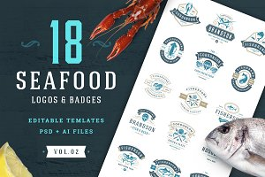 18 Seafood Logos & Badges