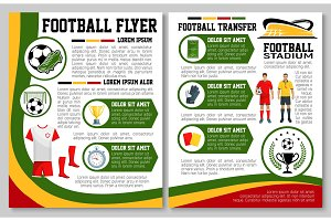 Vector flyer for football or soccer sport match