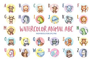 Watercolor Animal ABC