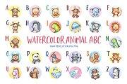 Watercolor Animal ABC