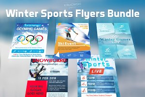 Winter Sports Flyers Bundle