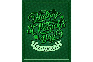 Saint Patrick Day vector pattern greeting card