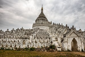 White pagoda of Hsinbyume in Mingun, Myanmar