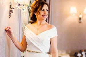 Wonderful bride in white dress