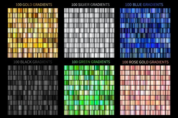Gradients - Set of Colorful Gradients .AI .GRD
