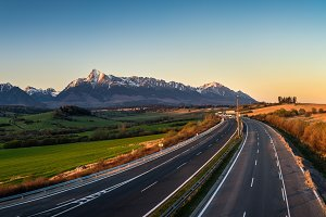 High Tatras and mount Krivan, Slovakia