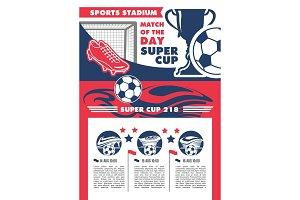 Vector soccer team football championship poster