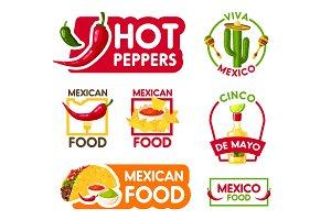 Cinco de Mayo mexican holiday food and drink icon