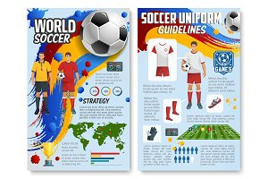 Vector soccer football game infographics