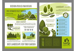 Vector brochure of landscape design build