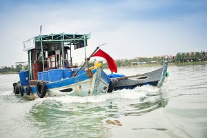 Traditional vietnamese boat