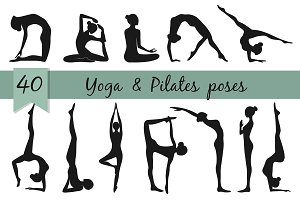 Yoga and pilates poses