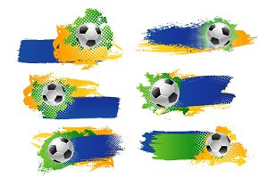 Vector soccer football ball sport game backdrops