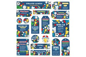 Vector soccer cup football leagu game tags