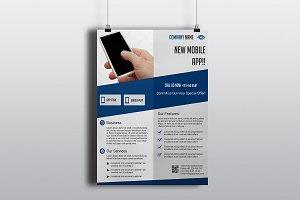 Mobile App Flyer V769
