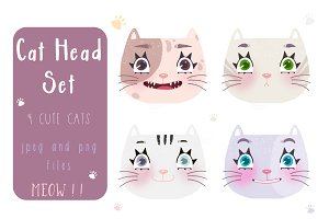 Cat Head Set