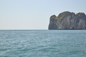 Green island and sea nature