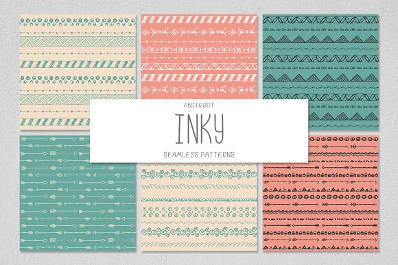 6 INKY Seamless Patterns