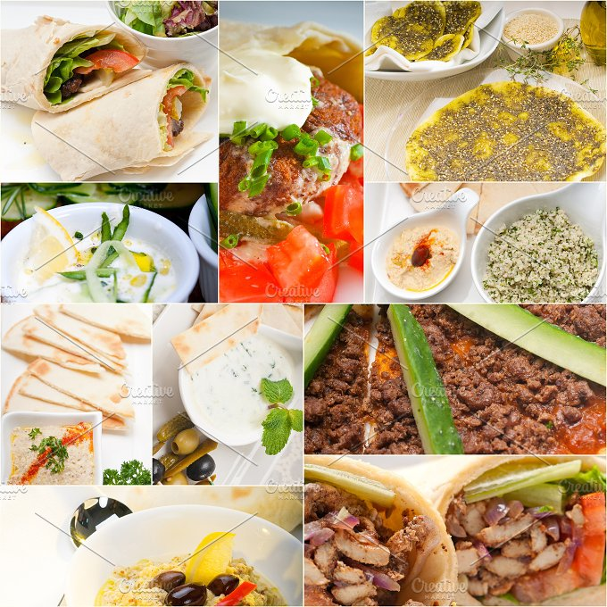 Arab middle eastern food collage 5.jpg - Food & Drink